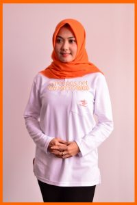 Seragam Kaos Kantor Pos Indonesia Wanita Muslimah