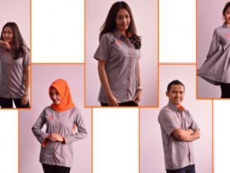 Seragam Kaos Dinas PT Pos Indonesia Hari Senin Untuk Pria dan wanita cover
