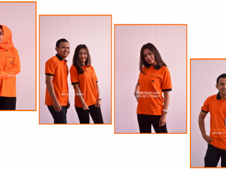 Seragam Kaos Dinas Lapangan PT Pos Indonesia Orange