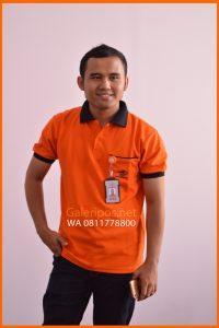 Seragam Kaos Dinas Lapangan PT Pos Indonesia Orange Untuk Pria