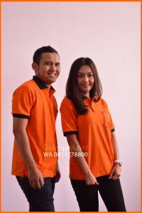 Seragam Kaos Dinas Lapangan PT Pos Indonesia Orange pria dan wanita